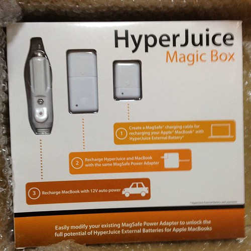 HyperJuice MagicBoxきたー!