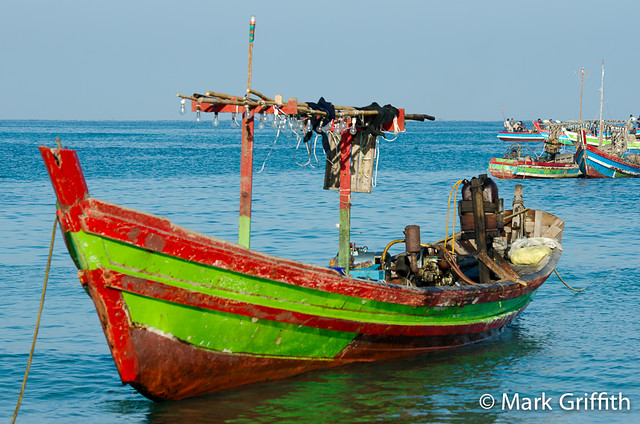 Boats of Ngapali Beach