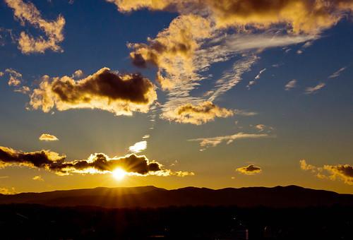 sunset sky sun clouds sony roanoke va