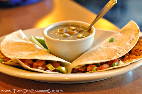Fish Tacos with Cream of Mushroom Soup at Kafe 421 ~ Minneapolis, MN