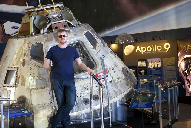 Me with the Apollo 9 lunar module