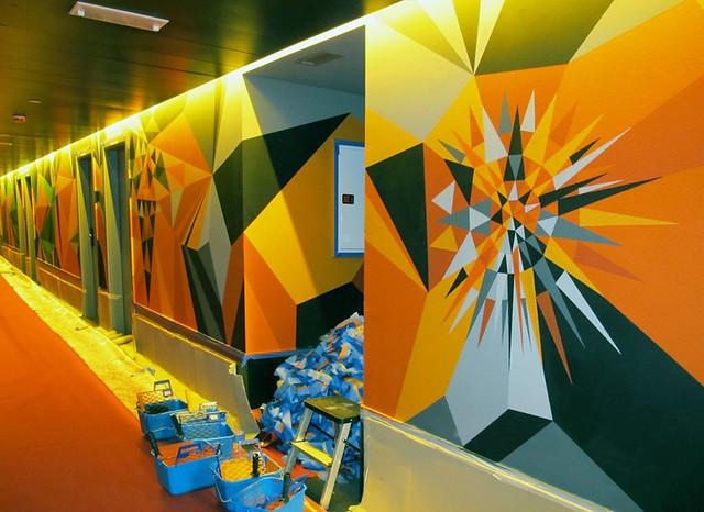 Barcelona Mural Process : Rayos De Sol.