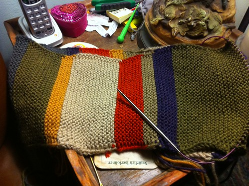 Current Knitting Project: Doctor Who Scarf
