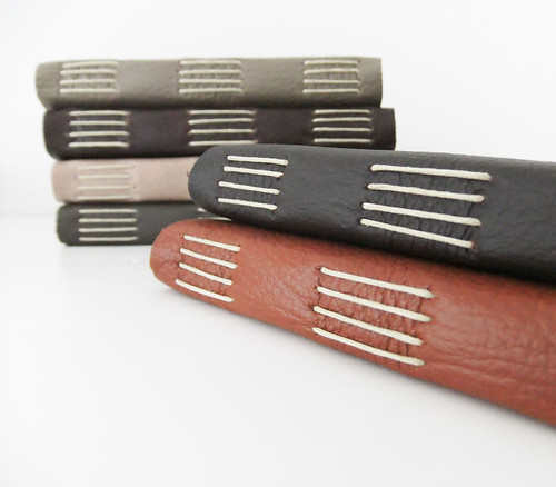 Handmade leather journals from reclaimed leather