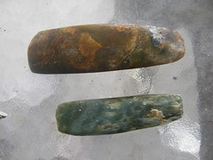 carving(0.0), horn(0.0), iron(0.0), weapon(1.0), stone tool(1.0),