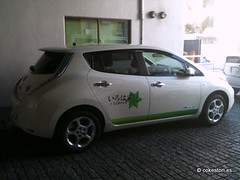 automobile, vehicle, nissan leaf, electric car, land vehicle, hatchback,