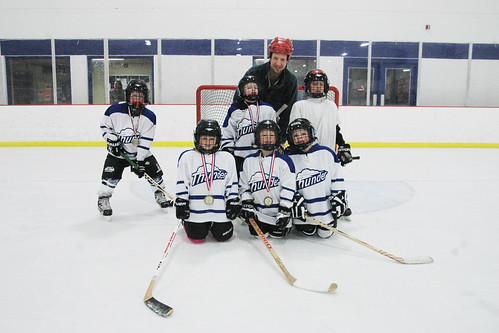 day 2769: making up for the eggregious oversight of not taking a mighty mite hockey jamboree team photo.