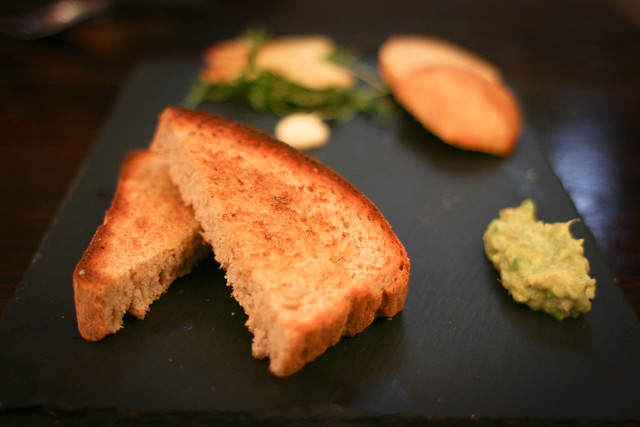Rye and Caraway Bruschetta with Lime Guacamole