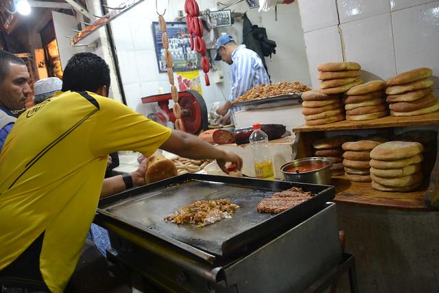 street food stall, fez