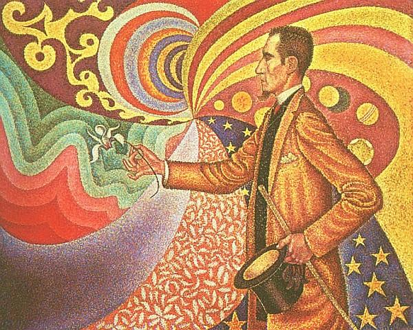 paul signac, felix feneon, portrait, painting