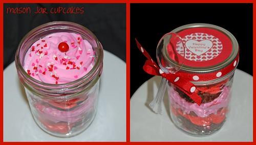 Mason Jar Valentine's Day Cupcakes