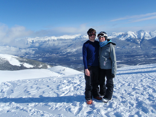 Cole and Adela, Top of Marmot Basin Ski Area