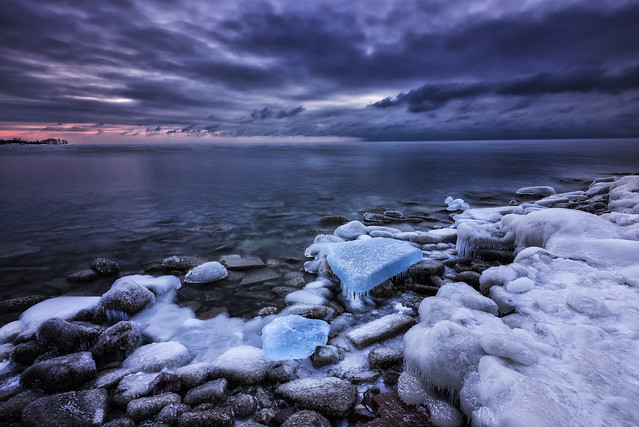 Ice Blue Sunrise @ Leslie Spit, Toronto