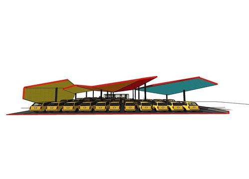 林祺錦建築師事務所 - 澎湖縣機場計程車鋼棚