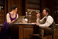 Christina Pumariega and Christopher Tarjan in the Huntington Theatre Company production of Melinda Lopez's stirring new drama BECOMING CUBA directed by M. Bevin O'Gara, playing March 28 - May 3, 2014 at the South End / Calderwood Pavilion at the BCA. Photo: T. Charles Erickson