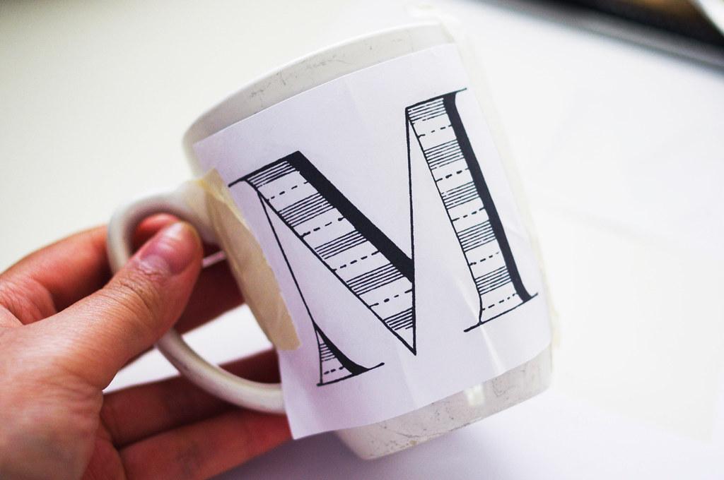 Anthropologie letter mugs