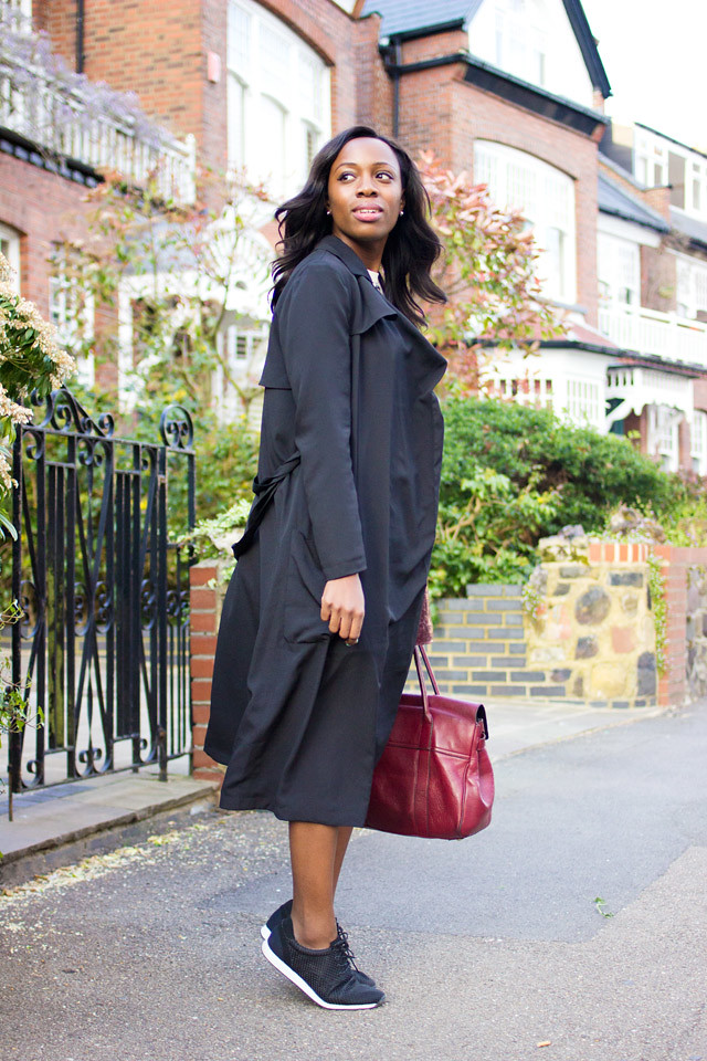 ASOS lightweight drape mac trench coat