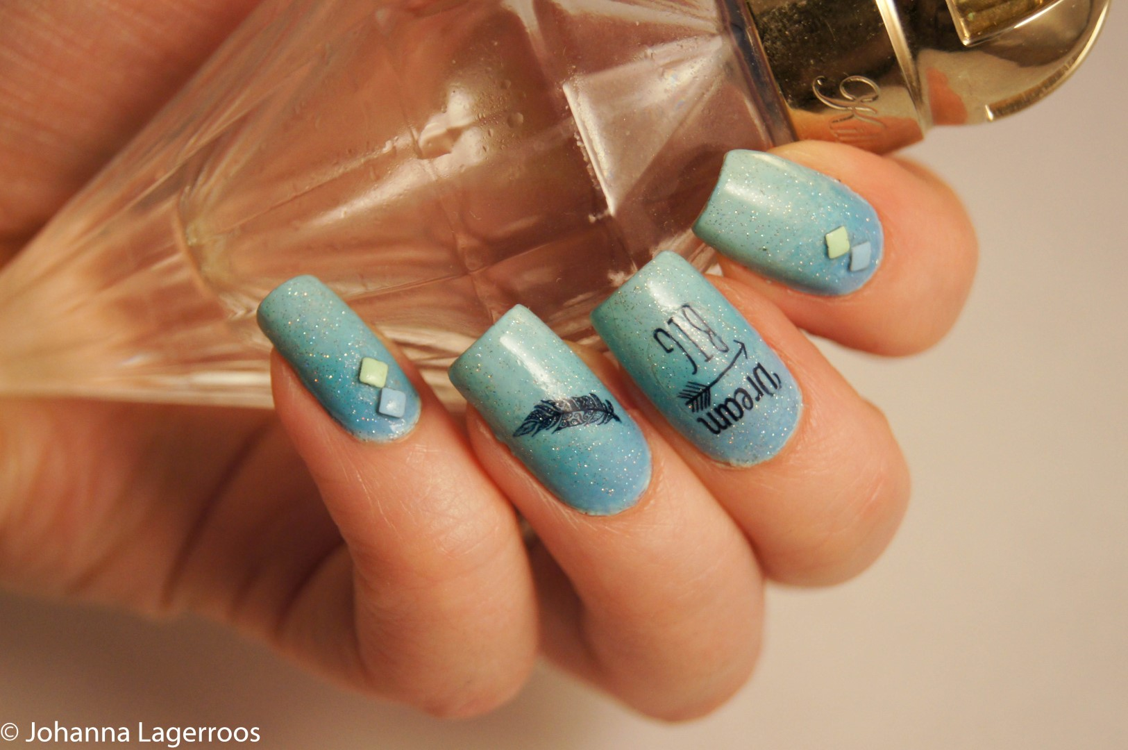 water decal nails