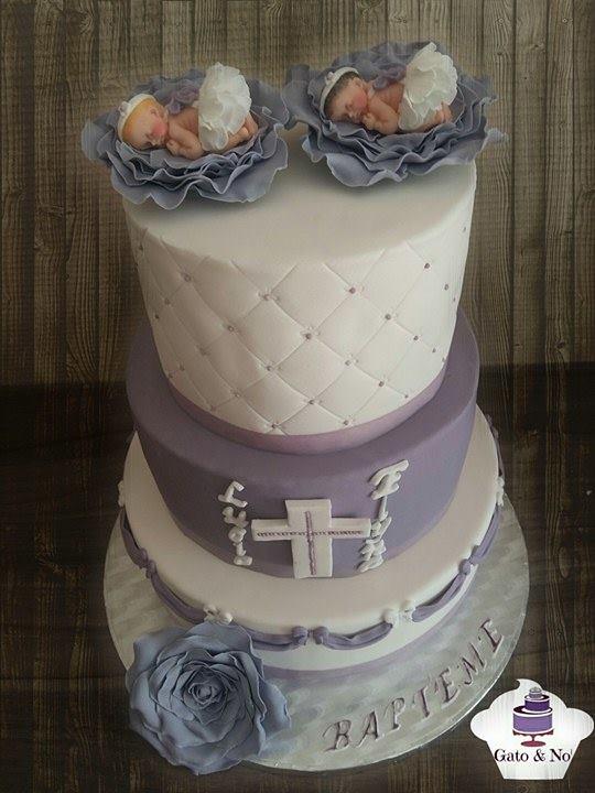 Noemie Moors' Christening Cake for Twins