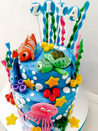 Under the Sea Themed Cake by Sweetbuddies by Gerlyn and Noemi