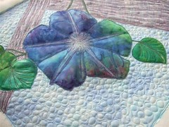 First Morning Glory Bloom Quilt