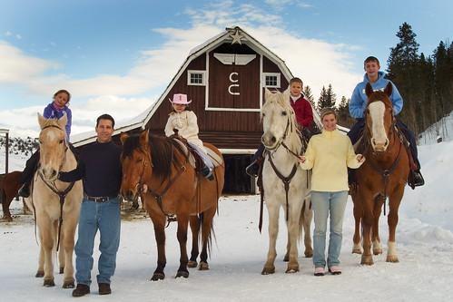C Lazy U Family and Barn