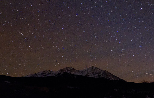 longexposure november sky mountain snow night dark stars star colorado peak clear co nightsky aspen carbondale startrail 2011 sopris mountsopris 1740mmf4l canon7d tobyharriman mountainwithstars minuteexposures
