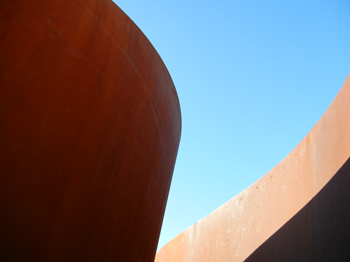 Sequence, Steel Sculpture by Richard Serra, Cantor Arts Center, Stanford University _ 8351