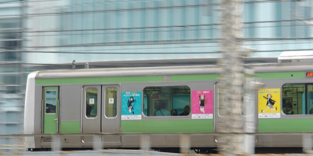 K-ON! wrapping train : JR Yamanote line, in JR Akihabara station