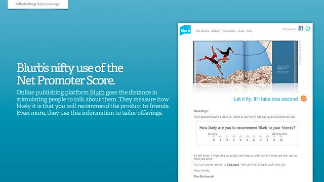 Blurb's nifty use of the Net Promoter Score