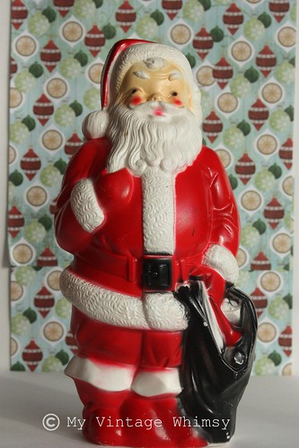 Vintage Santa Blow Mold Empire 1968 by myvintagewhimsy