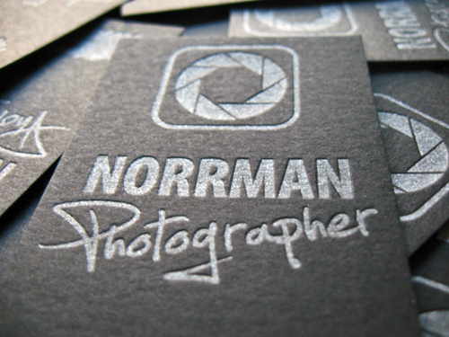 Norrman Photo Letterpress Cards