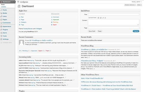 Giao diện Quản lý của WordPress
