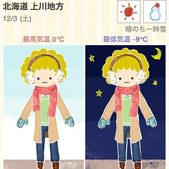 「今日の重ね着 http://goo.gl/v0aVh 」は気候に合った服を案内してくれるはずなのだが、たまに無茶な薄着を奨めてくる。