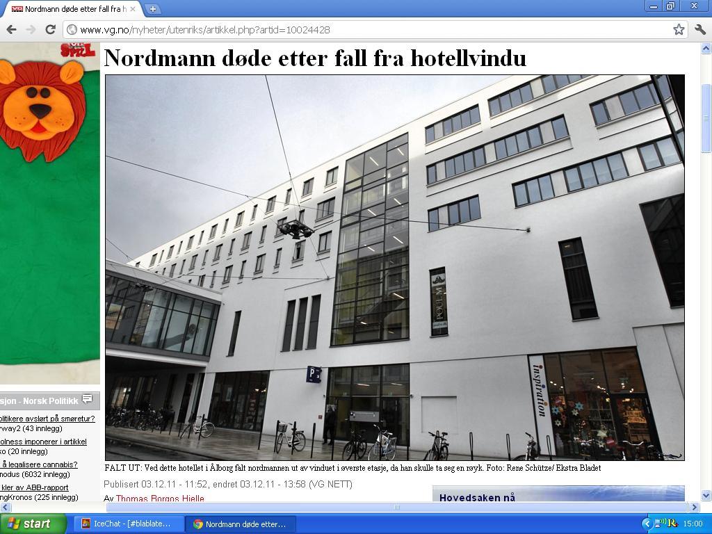 ikke første gang nordmann faller ut av hotellvindu