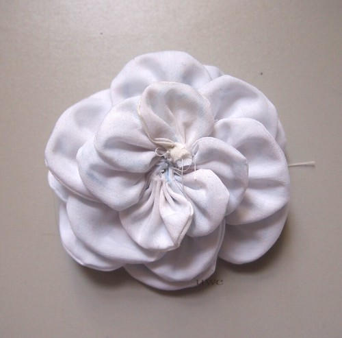 Fabric Flower Tutorial Step 8