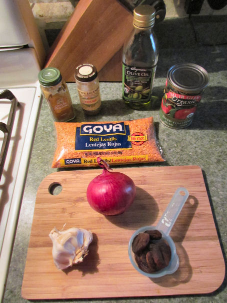 Ingredients for Apricot Lentil Stew