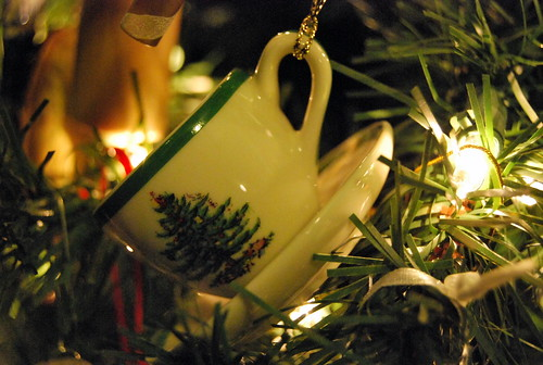 Spode tea cup ornament