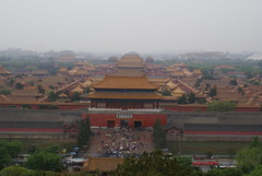 Wet day on Forbidden City Gate - few people there