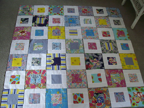 Layout of the Small Plates quilt by AndreaAMM