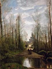 Camille Corot - L'Eglise de Marissel (1866).