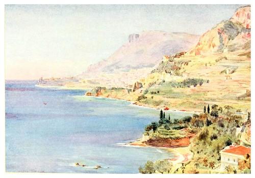 017- Vista del principado de Monaco-An artist in the Riviera (1915)-Walter Tyndale