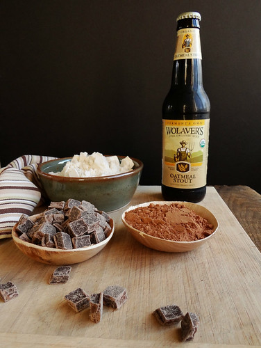 sea salted oatmeal stout brownie bites
