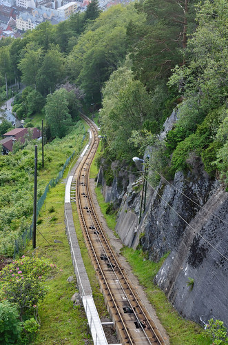 Funicular rail
