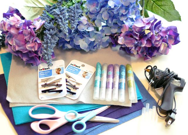 Flower Hair Clips DIY_Flower Christmas Tree Ornaments-materials