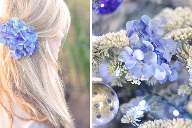flower hair clip christmas tree ornament
