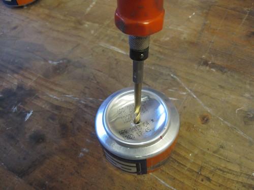 Drilling the pressure vent