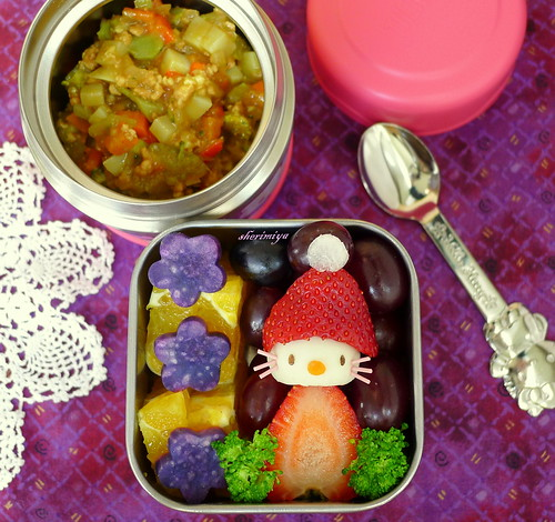 Hello Kitty Santa Curry Bento by sherimiya ♥