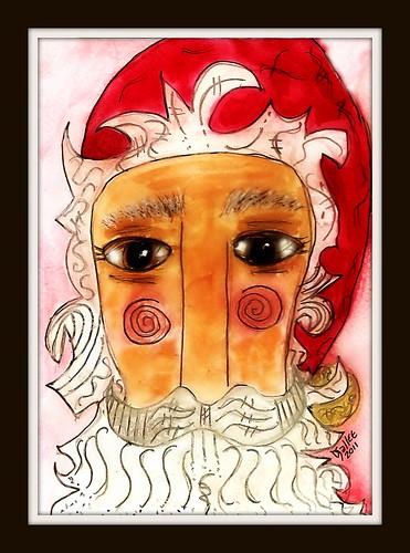 2011 - Christmas Folk Art Santa by BeverlyDiane