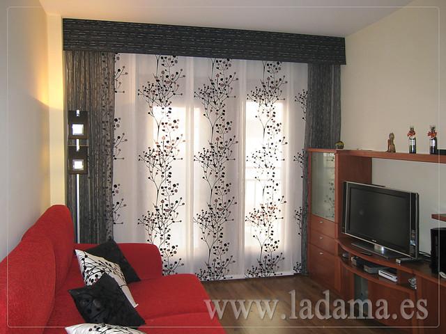 Decoraci n para salones modernos cortinas paneles - Panel japones para salon ...